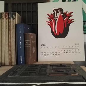 Bienvenido Abril ! Ilustración / Sebastián Santana Tipografía / Gafata Woodtype