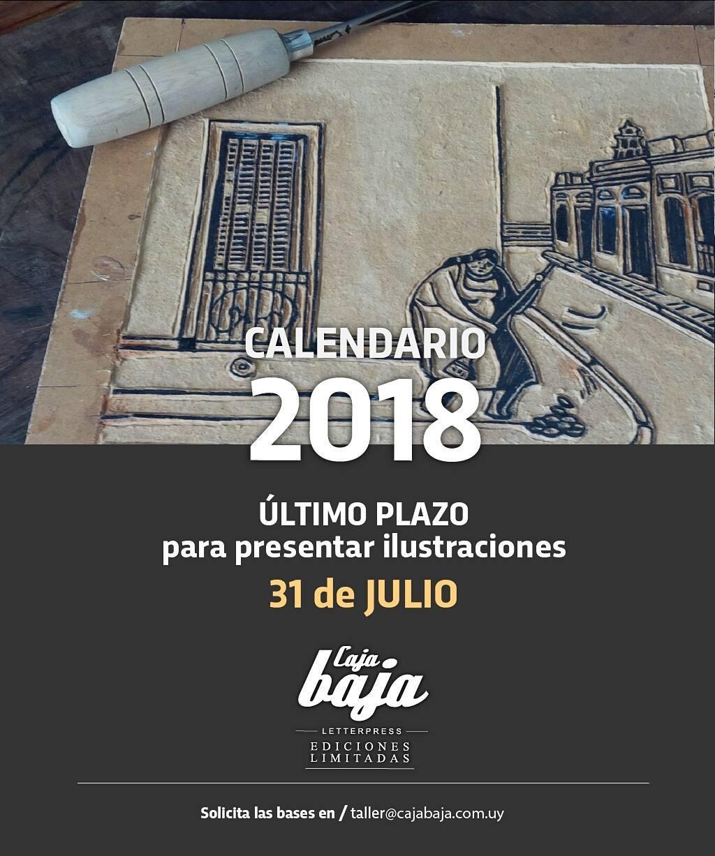 Recuerden que el último plazo para presentar ilustraciones para el calendario 2018 es el 31 de Julio. A no dormirse