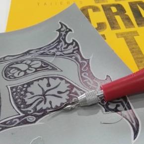 Grabado letra capital (W.Morris) Programa de  actividades del taller