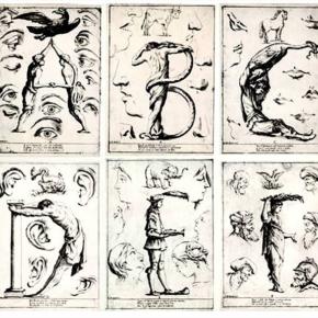 Todo pronto para comenzar el Taller de grabado de Letras Capitales. ——————————————- Alfabeto del sueño, Giuseppe Mitelli, Italia 1683