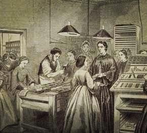 Victoria Press, fue una imprenta fundada en 1860 por Emily Faithfull, integrada por mujeres que habían aprendido el oficio de cajistas. Faithfull también contrató hombres para enseñar a las mujeres no sólo a componer sino, también, a manejar las pesadas prensas.  La iniciativa se encontró con la oposición del sindicato de impresores que argumentaron razones de moralidad y la imprenta sufrió sabotajes.  No obstante, continuó en activo durante veinte años, produciendo un trabajo sólido que se concretó en los treinta y cinco volúmenes de la publicaciónVictoria Magazine, dedicada a defender los derechos de las mujeres. -Fuente / Raquel Pelta  Salú a todas las mujeres que luchan por sus legítimos derechos